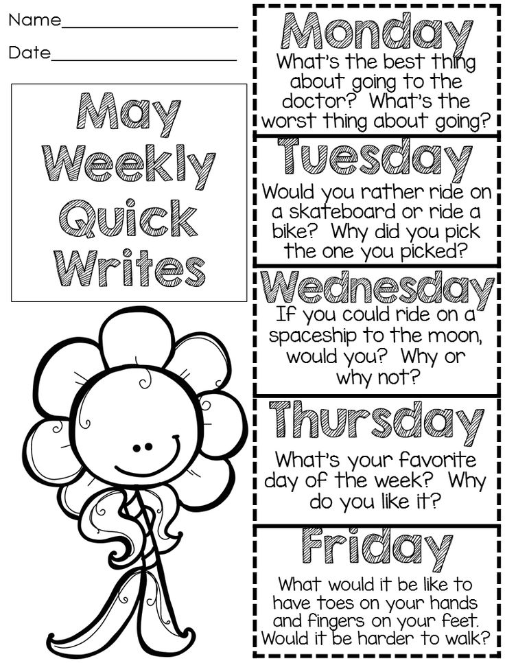 Writing Sentences Quick Write Writing Prompts Spring