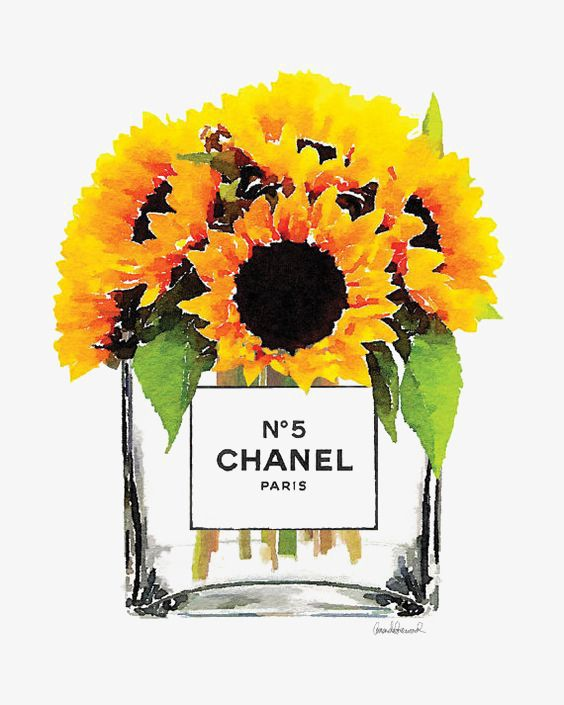 Chanel Flores Perfume Cartoon Pintado A Mano Ilustraci 243 N Acuarela Clip Art Watercolor Art