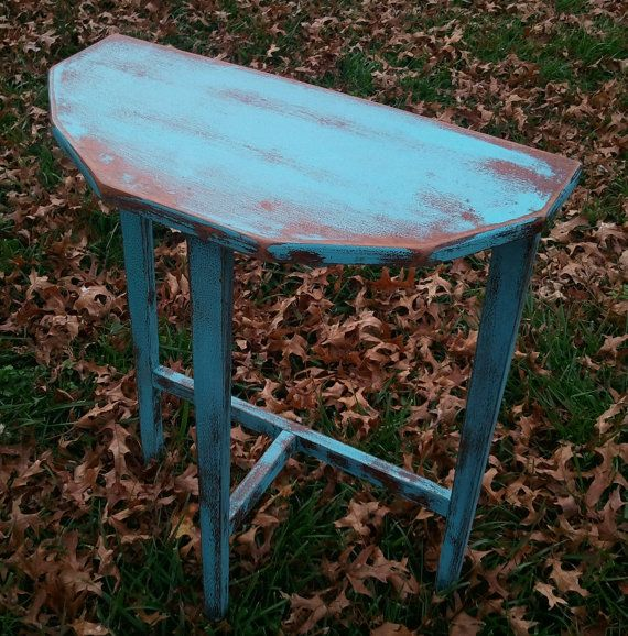Turquoise Half Table by HayDayLiving on Etsy, $50.00