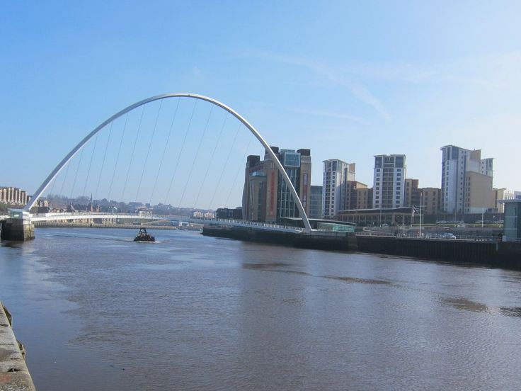 Views of the River Tyne, the Millennium Bridge between Newcastle and Gateshead, and in the distance, the Baltic Quays on the Gateshead side of the river. This is where Scarlett lives.