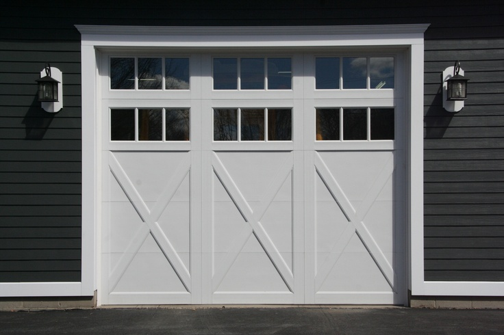 Raynor Garage Doors Rockcreeke Model with two rows of windows.  Dutchess Overhead Doors, Poughkeepsie