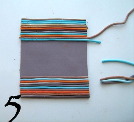 Making beads with stripes (in French, good pix). The post links to several other methods. #polymer #clay #tutorial