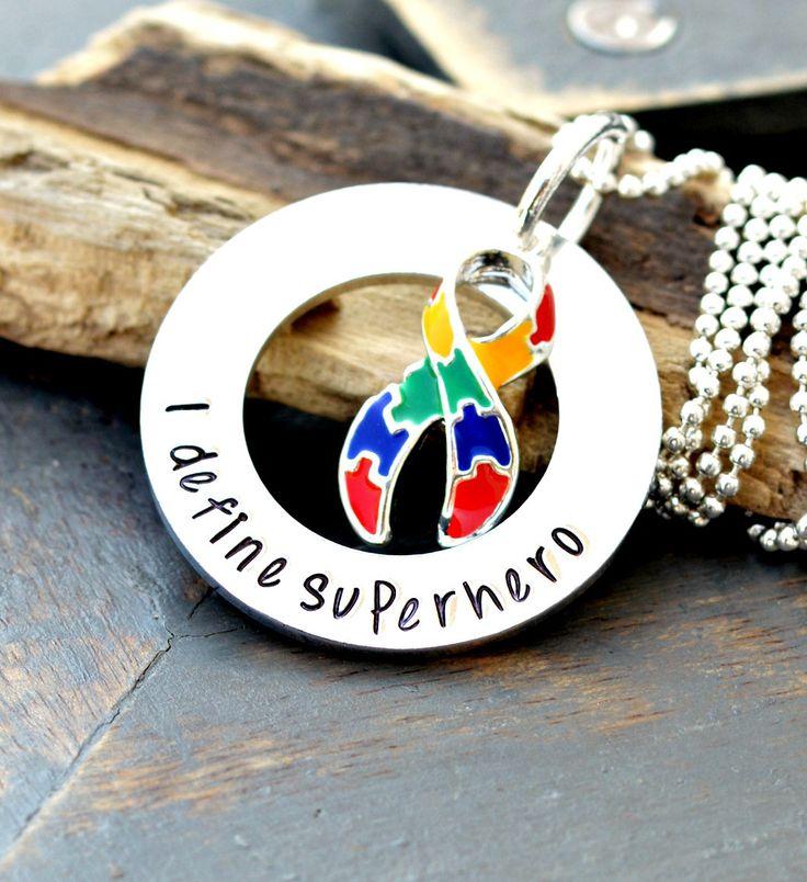 Autism Necklace - Autism Awareness- Autism Keychain - Autism Puzzle Necklace - Autism Jewelry - Awareness Necklace - Autistic Child