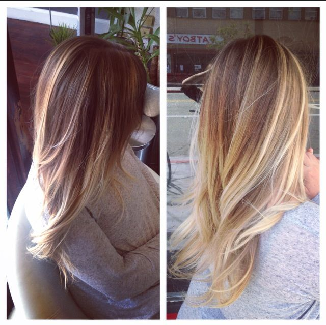 Hand painted balayage highlight by Alex at the lab a salon Northpark