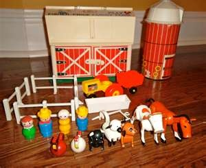 Vintage Fisher Price farm set. I found the barn and few animals at a yard sale. My kids loved it! Maybe should get it appraised.