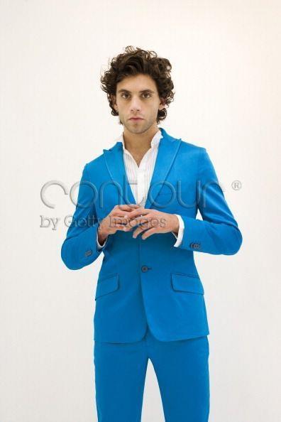 Mika blue suit portrait shoot London 26-06-2007