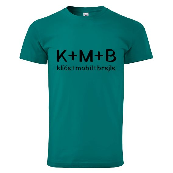 """Tip na vánoční dárek pro rodiče - tričko """"K+M+B""""."""