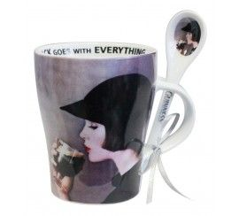 Guinness Girl Mug and Spoon set