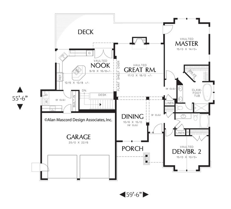 Mascord House Plan 1201j House Plans Basement Plans And