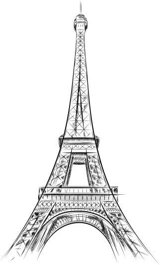 Tour Eiffel Dessin - Photos et Images Libres de Droits - iStock