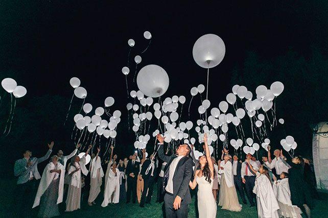 Свадьба Александра и Александры в итальянском стиле, с воздушными шарами