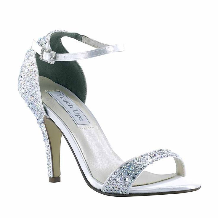 Women's Touch Ups Rena Dyeable Satin Elegant Sandal. Perfect Evening Shoes