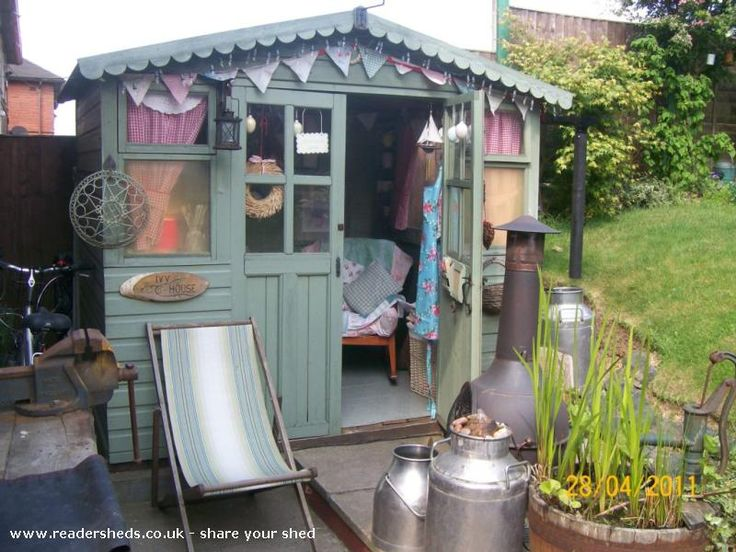 "The House that ""Ivy"" built, Cabin/Summerhouse shed from back garden in The Potteries 