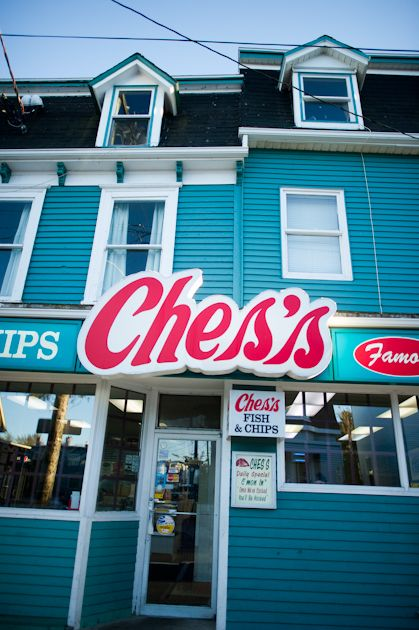 Ches's Fish and Chips. I would kill for some chips and gravy about now. Newfoundland