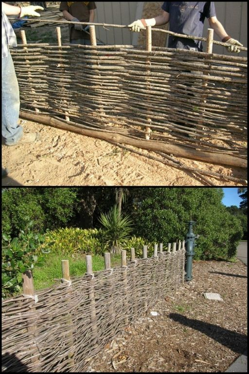 Wicket fencing creates interesting screens, fences, and caging! Learn more about this DIY project here...