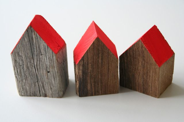simple blocks for kids or just as perfect as part of a table vignette - love the painted and wooden elements together