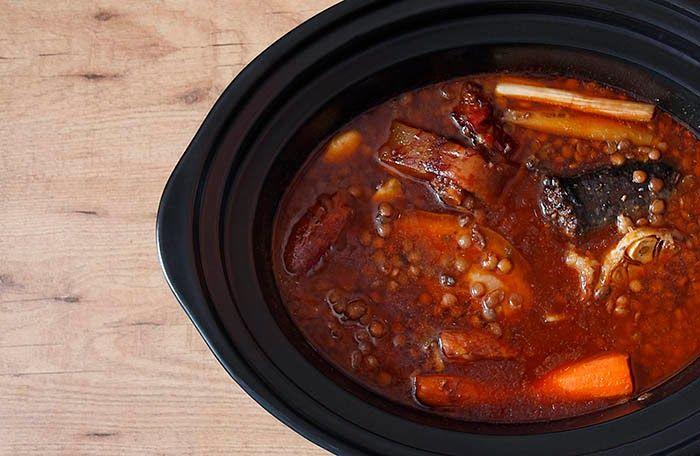 Receta de lentejas estofadas en Crock Pot | Crockpotting