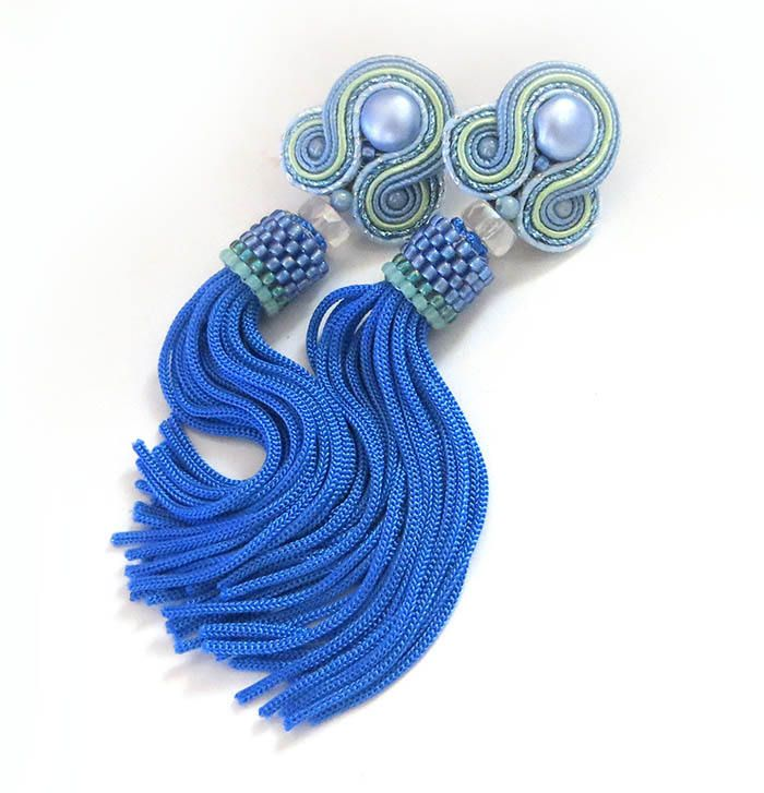 Excited to share the latest addition to my #etsy shop: Soutache earrings Oscar de la renta earrings clip on tassel earrings Oscar style renta earrings tassel earrings sky blue earrings soutache http://etsy.me/2CjzLMa #jewelry #soutache
