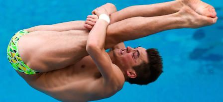 James Connor of Australia competes in the men's 3m springboard preliminary as part of the 2016 FINA Diving World Cup at Maria Lenk Aquatics Centre on February 21, 2016 in Rio de Janeiro, Brazil. The 2016 FINA Diving World Cup is a test event for Rio 2016 Olympic Games. © 2016 Getty Images