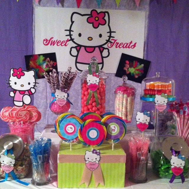 Hello Kitty Candy Buffet Ideas For Mikaelas 3rd Birthday