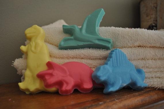 Handmade dino soap