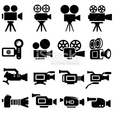 stock-illustration-20552497-film-camera-old-and-new-black-white-icon-set.jpg (380×380)