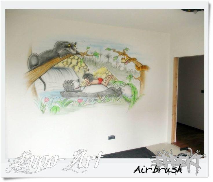 Kinderzimmer wandgestaltung dschungelbuch  52 besten Airbrush Wandgestaltung Bilder auf Pinterest ...
