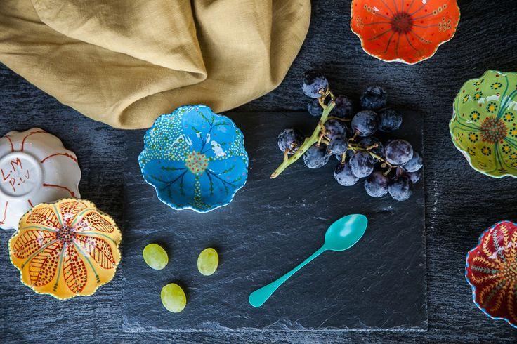 Tulipani Hand-Painted Tulip-Shaped Mini Bowls – DishesOnly