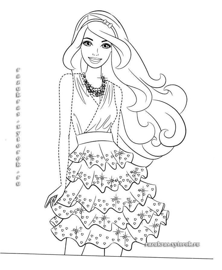 Раскраски Умная и красивая Барби - Barbie | Desenhos pra ...