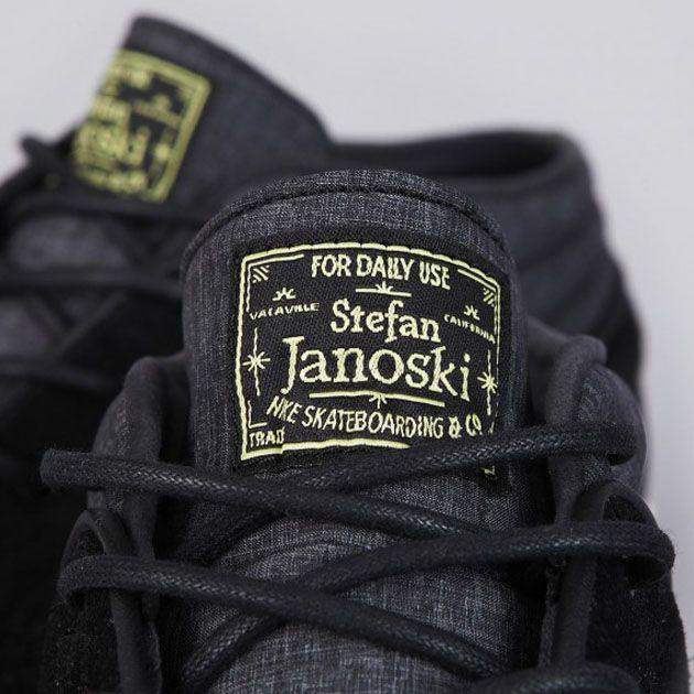 443095-007 Nike SB Stefan Janoski Mid-Black-Electric Yellow-2