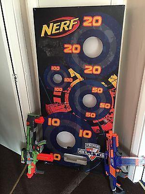 Nerf Gun Target And 2 Guns