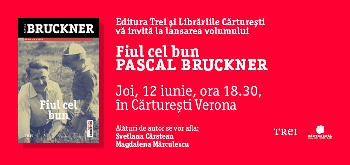 Nu rata întâlnirea cu Pascal Bruckner maine, 12 iunie 2014, ora 18.30, la Librăria Cărtureşti-Verona!
