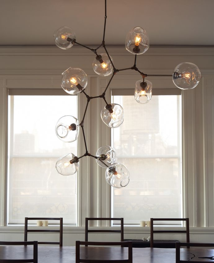 Seriously amazing custom lighting. Lindsey Adelman :: 11-globe Branching Bubble