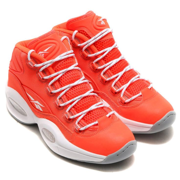 New Men's REEBOK Question Mid OTSS - V69689 Red Grey White Allen Iverson  Strong