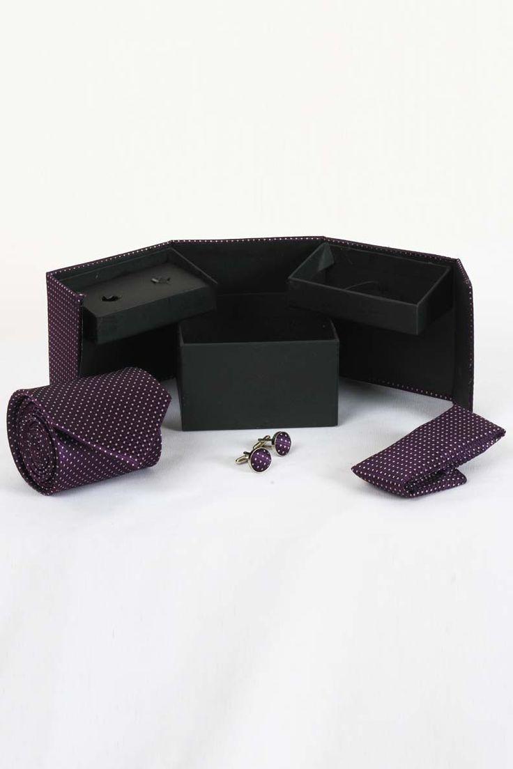 http://tinyurl.com/jmlbu6x Buy Designer WIDSOR Voilet Tie, Cufflink and Pocket Square Combo Sets Online only on GetAbhi.com
