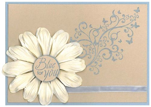 Stamp-it Australia: 3967F Butterfly Swirl, 4069C  Blue for You - Card by Susan