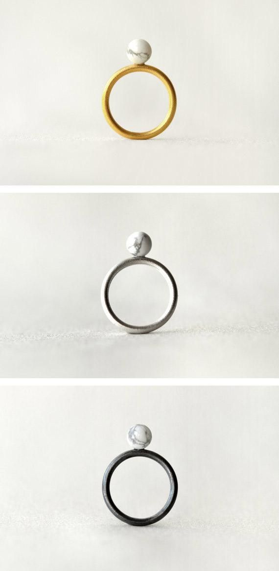 Three moon-inspired rings in three finishes — for whatever phase you're in now. #etsyjewelry