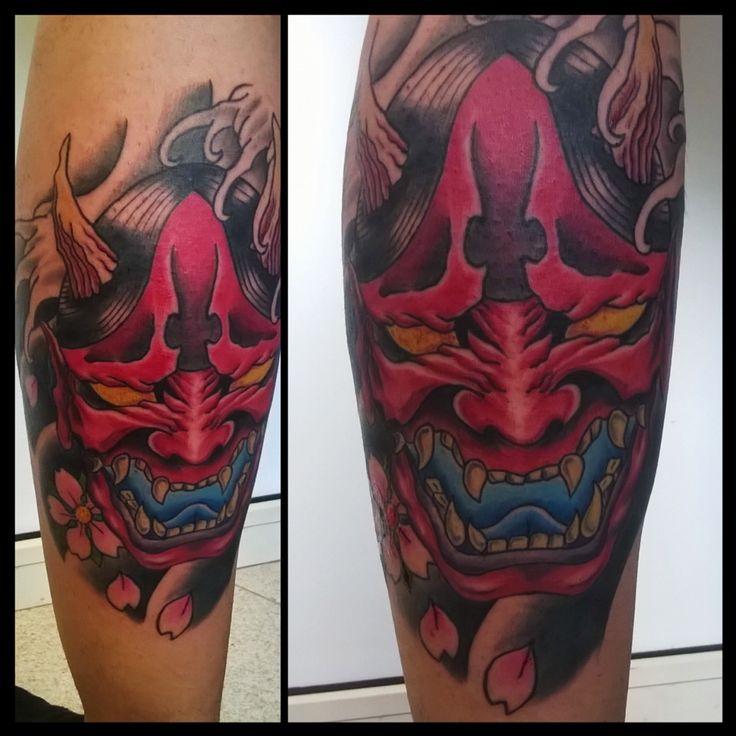 Oni mask tattoo , Japanese tattoo by Mael tattoo