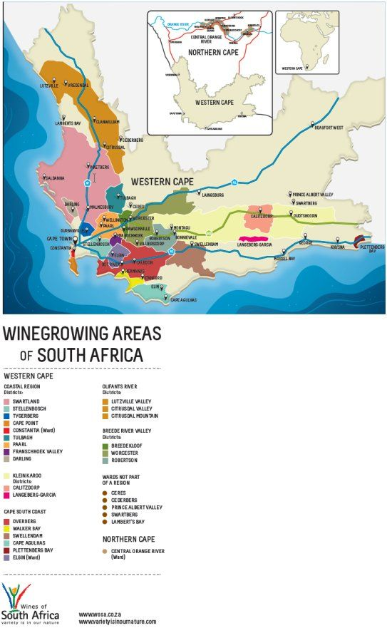 South African wine regions