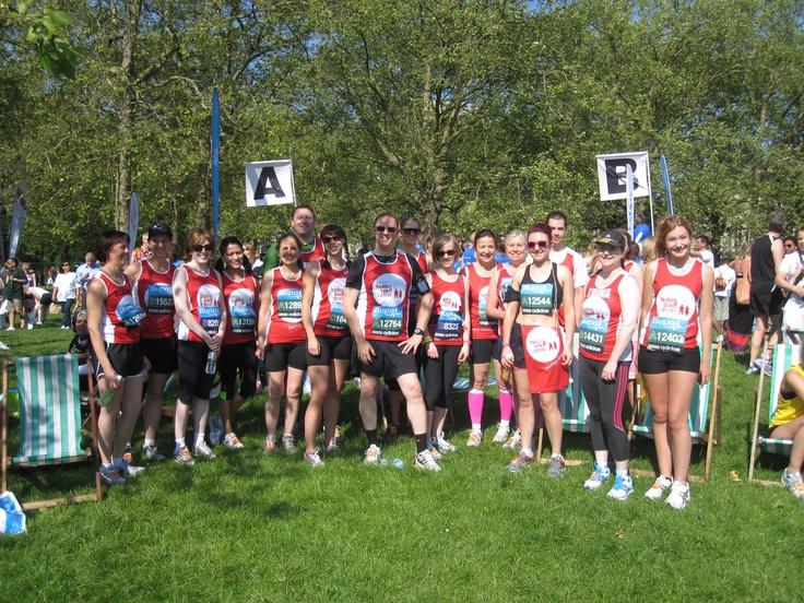 Bupa London 10k running team! 27th May 2012