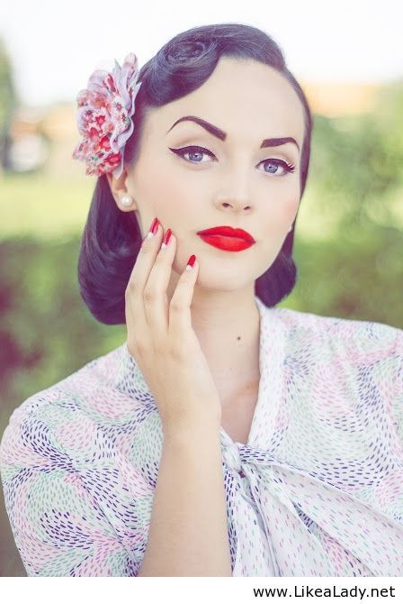 vintage look her eyebrows are perf make up hair pinterest vintage makeup and. Black Bedroom Furniture Sets. Home Design Ideas