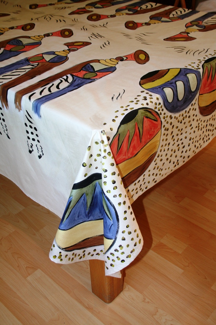 African Design. (on Etsy). Decorate Your Table With A Beautiful Hand Painted