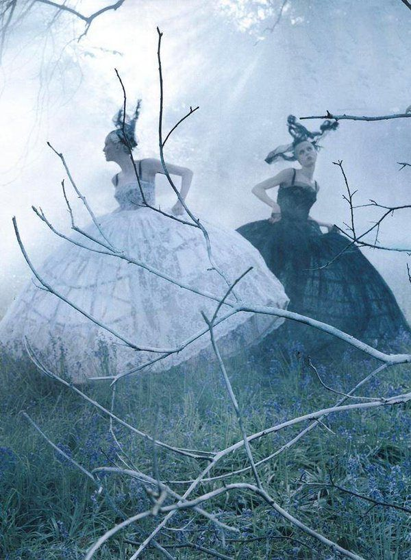 Tim Walker-> the three sisters. Good, Evil and Balance (she wears a grey dress) are going on a family trip. Write out the trip.