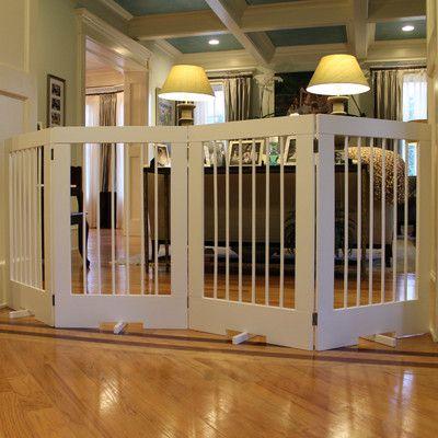 Cardinal Gates 4 Panel Tall Pet Gate Finish: White