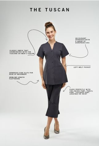 Tuscan Noel Asmar Spa Uniforms                                                                                                                                                                                 More