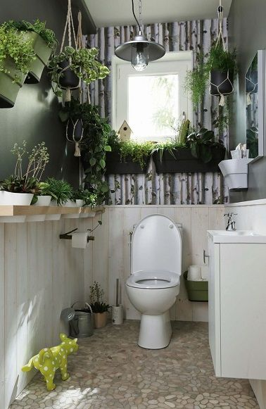 17 best images about toilettes wc on pinterest coins chalets and design - Deco toilettes nature ...