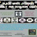 Black White & Bright Daily 5 Rotation Chart