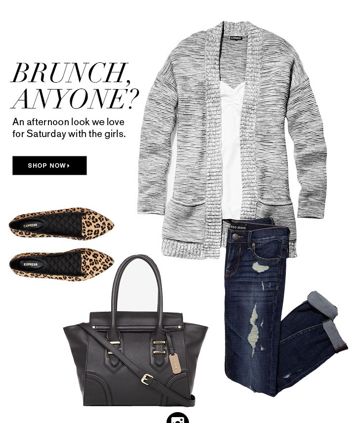 Love this especially the leopard loafers and gray cardi