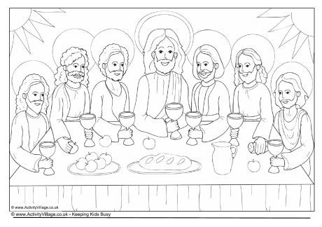 the last supper colouring page