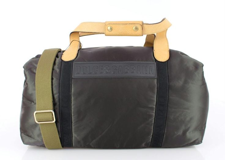 Gray Nylon Unisex Boston Bag